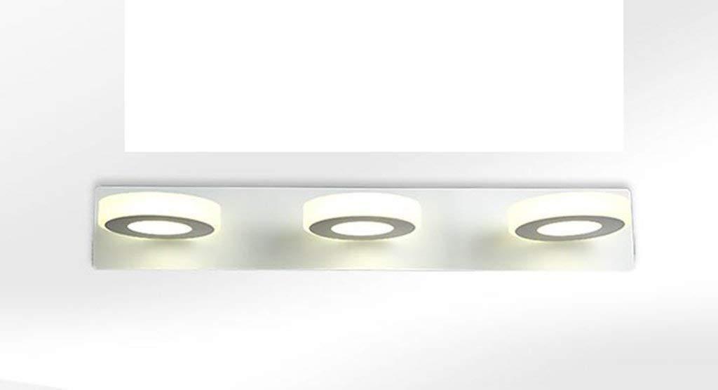 Fenciayao LED防火ミラーモダンでシンプルな調節可能なアクリル絵の具バスルームバスルームランプ壁の火ライトを構成する (Color : White Light-three- 48wcm 9w)  White Light-three- 48wcm 9w B07RGB28LC