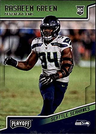 2018 Panini Playoff  300 Rasheem Green Rookie RC Rookie Seattle Seahawks  NFL Football Trading Card 86dda50c5