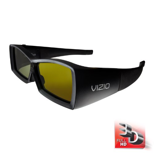 VIZIO VSG102 Full HD 3D Rechargeable Glasses, Black (2 Pack) by VIZIO