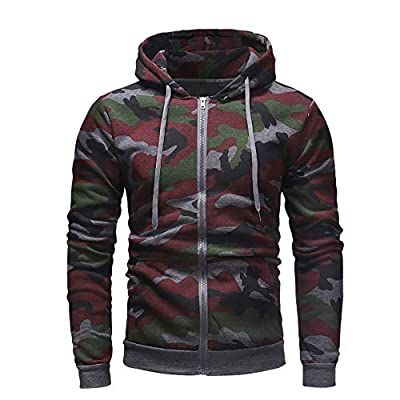 Camouflage Men Hoodies Long Sleeve Sweatshirt Top Men Outwear ZYAP