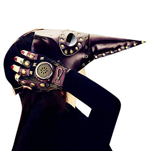 CYNDIE Plague Bird Beak Doctor Mask for Halloween Cospaly -