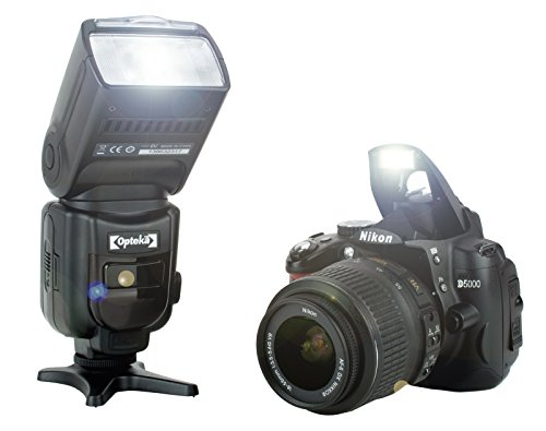 Opteka IF-980 E-TTL AF Dedicated Flash w/Bounce, Zoom, Tilt, LCD Display for Canon EOS Digital SLR Cameras 80D 7D 77D 70D 60D 60Da 50D 7D 6D 5D 5DS 1DS T7i T7s T7 T6s T6i T6 T5i T5 T4i T3i T3 SL2 SL1