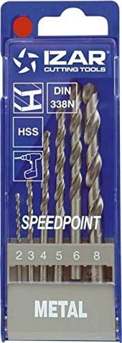 Izar HSS-Spiralbohrer mit Zylinderschaft Set 6-teilig