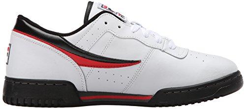 Fila Menns Opprinnelige Trenings Lea Klassisk Sneaker Hvit / Svart / Poppy Red