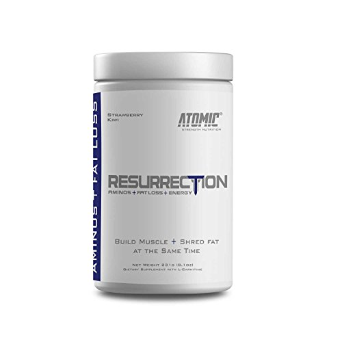 Atomic Strength Nutrition Resurrection Shred Fat, Build Muscle, Boost Your Energy and Hydrate Your Muscles for Faster Recovery Strawberry Kiwi