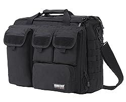Seibertron Pro Multifunction Mens Military Tactical Outdoor Shoulder Messenger Laptop Bag Handbags Briefcase Satchel Crossbody Sling Case Large Enough For 17 3 17 3 Inch 2 Years Warranty Black