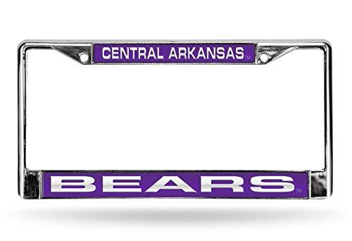 (NCAA Central Arkansas Bears Laser Cut Inlaid Standard Chrome License Plate Frame,)