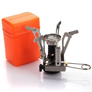 kirinstores (TM) Hornillo de gas portátil para uso en exteriores de picnic plegable estufa