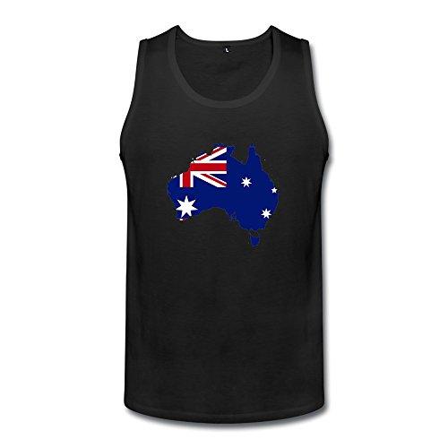 Australia Flag Map Mens Australia Flag Map Tank Tops Black