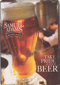 Boston Brewing Company Samuel Adams Paperboard Coasters - Set of Different Designs (Adams Ale Sam Boston)