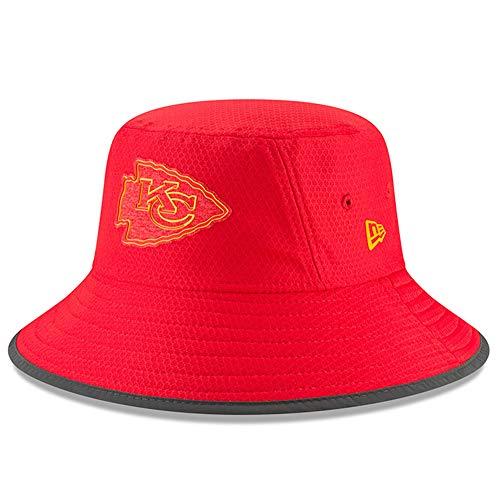 New Era NFL 2018 Training Camp Sideline Bucket Hat Team Color (Kansas City Chiefs) (New Era Chiefs Beanie)