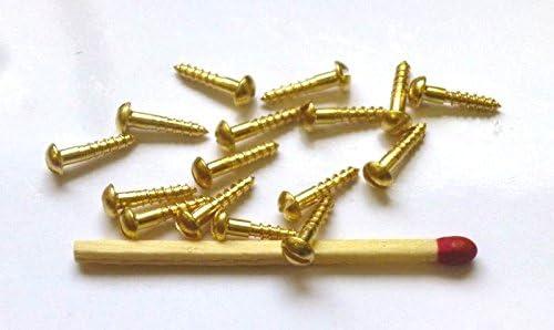 Halbrundkopf mit Schlitz 100 St/ück MINI-Holzschrauben DIN 96 Messing 2x12mm f/ür Modellbau oder zur Restauration