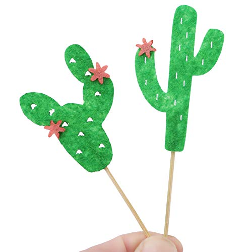 Cake Decorating Supplies - 6pcs Pack Creative Cactus Cake Flag Per Multi Colors Flags Party Baking Xmas Decor - Innovations Sprinkles Stand Butter Level Russian Large Dallas Caddy Basketball Can ()