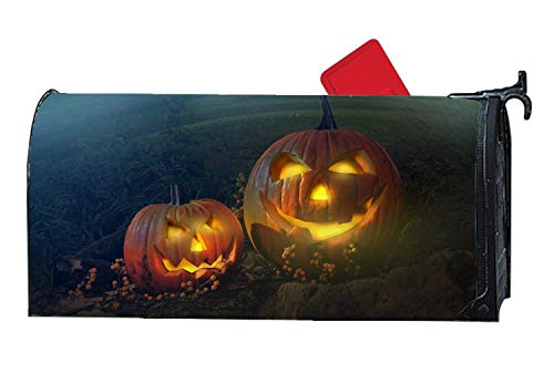 Funny Halloween Pumpinks Funny Magnetic Mailbox Cover - Vinyl Home Decorative Mailbox Wrap for Standard Size 6.5 x 19 inches Welcome ()