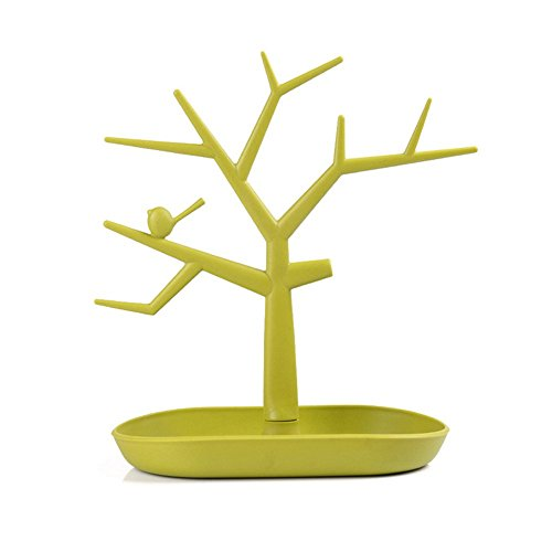 Tree Shape Earring Display Stand (New Wayzon Tree Shape Rings Earring Jewelry Organizer Storage Tower Stand Display Holder (Green))