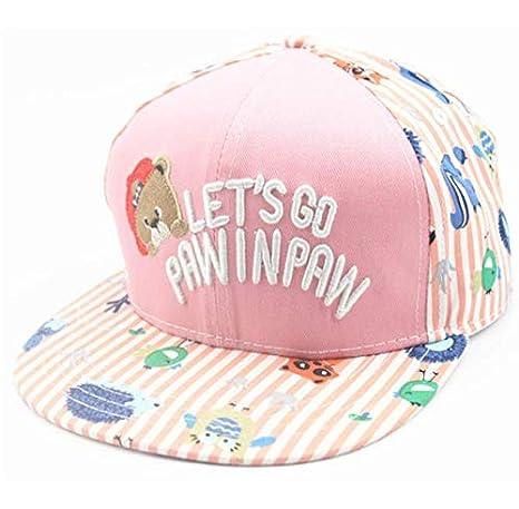 DHLZ Gorras de béisbol para niños, niña, niño, niños, Bordado, Oso ...