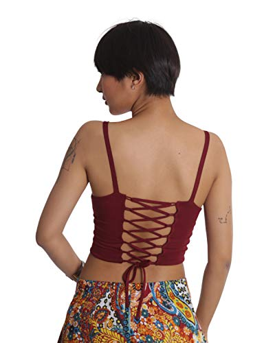 (Tropic Bliss Stretch Corset Top for Women, Yoga Lace Up Crop Top, Festival Clothes)