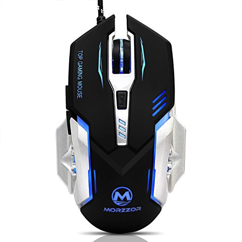 41U2WZiIP7L - EIMELI Gaming Mouse with 4 Color Changeable LED Light, 3200 DPI (4 Adjustable DPI Level), 6 Buttons, Ergonomic Design, Comfortable Grips