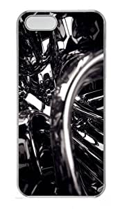 3D Black Polycarbonate Plastic Hard Case for iPhone 5S and iPhone 5 Transparent