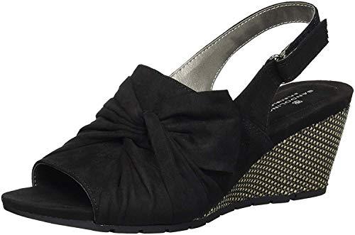 Bandolino Women's Gayla Wedge Sandal, Black, 9 M US