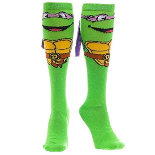 Teenage Mutant Ninja Turtles Womens Donatello With Mask Knee High Socks 1 (Female Teenage Mutant Ninja Turtles)