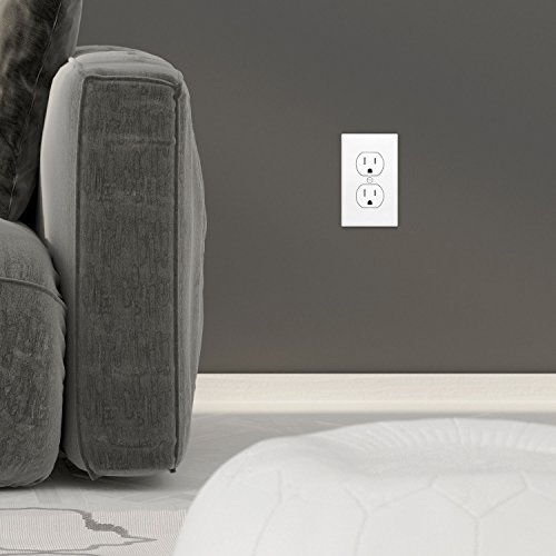 Enerlites Duplex Receptacle Outlet 61580-TR-W | Residential and Commercial Grade, Electrical, White Socket, Tamper Resistant, Grounding, 2-Pole, Straight Blade, UL Listed | 15A/125VAC, White - 10 Pack by Enerlites (Image #7)
