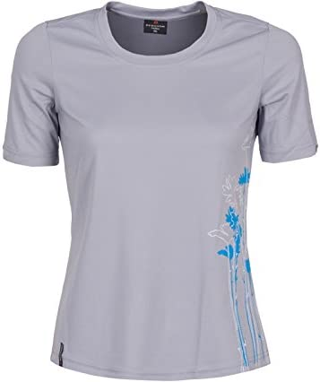 Frontdruck Bergson Damen Funktionsshirt EDA pflegeleicht Pique-Material Rundhalsausschnitt schnelltrocknend femininer Schnitt
