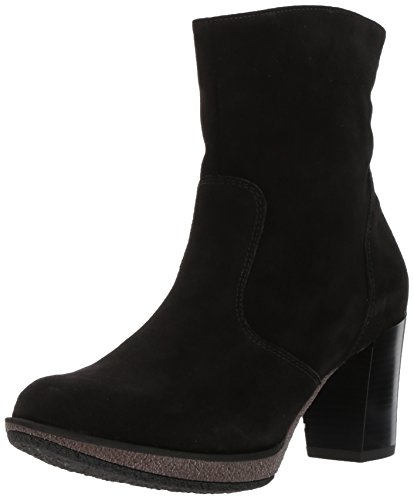 ara Women's Bristol Fashion Boot, Black Suede, 7.5 M US ()