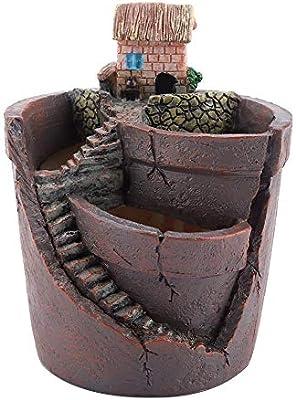 Casa Design - Maceta Flor Minuscule Creativa Plantas de Maceta Mini jardín Resina de depósito Escalera Escala Micro Paisaje: Amazon.es: Hogar