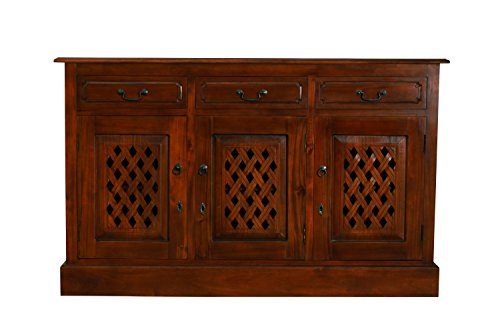 NES Furniture abc10030 James Sideboard Buffet Fine Handcrafted Solid Mahogany Wood, 57 inches, -