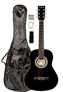 36 inch derosa dkg36 kid s black 3 4 acoustic steel string guitar great for. Black Bedroom Furniture Sets. Home Design Ideas