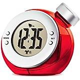 VERSOS ウォーター バッテリー アラーム クロック TIME H2O レッド VS-302