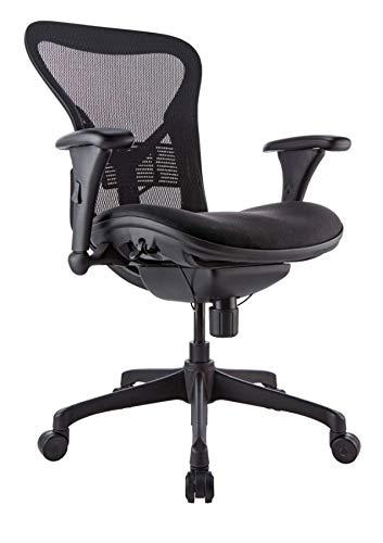 WorkPro Warrior 212 Series Chair, Mid-Back, Black
