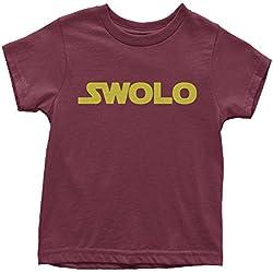 Youth Ben Swolo Star Warship Funny Parody T-Shirt Small Maroon