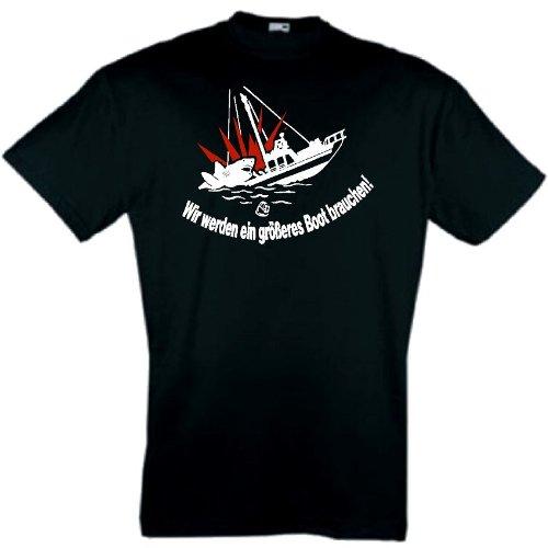 world-of-shirt Herren T-Shirt Der Weisse Hai