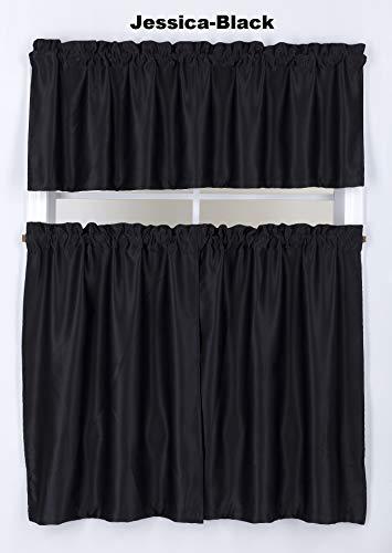 Black Kitchen Curtain - 5