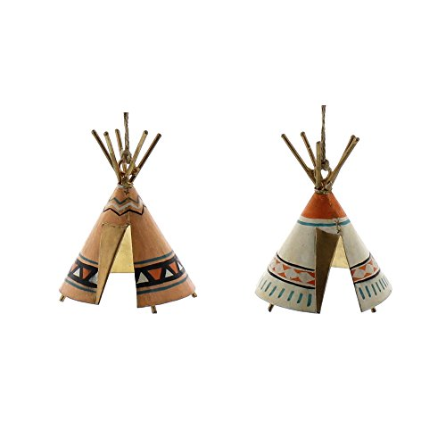Native Indian American Teepee (Bright Colored TeePee Ornament Set 2 | Native American Indian Retro)