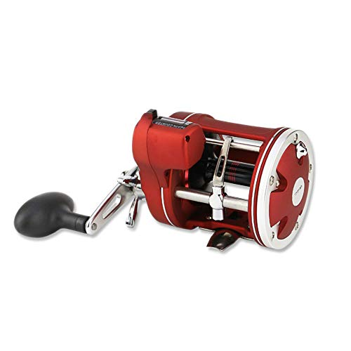 (vissen 12 Bearings Waterproof Left Right Hand Baitcasting Fishing Reel Red High Speed Fishing Reel with Magnetic Brake System)