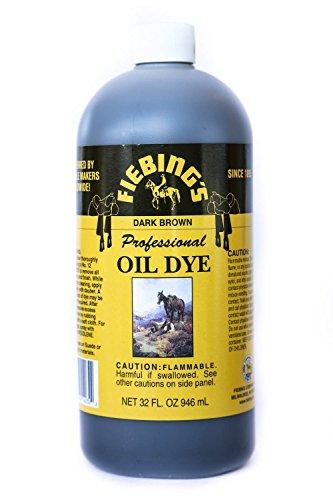 Fiebings - Professional Oil Dye, Alcohol Based, 32 Oz/946ml, Dark Brown
