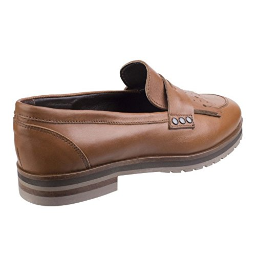 Riva Womens/Damen Olympia Loafers (37 EU) (Dunkel Tan)