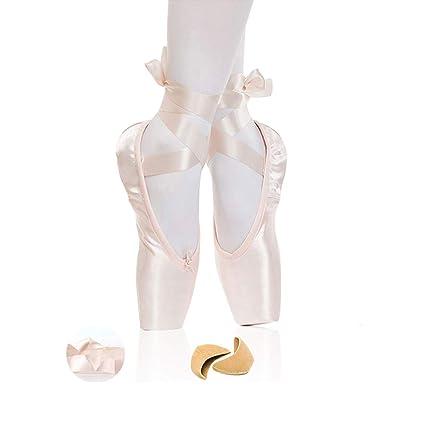 Amazon.com: Chinashow Zapatillas de ballet de satén para ...