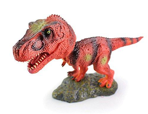 (Lovely Lifelike Bobble Head T Rex Dinosaur Toy Figures - Creative Head Rocking Car Toy Ornaments for Dinosaur Lovers)
