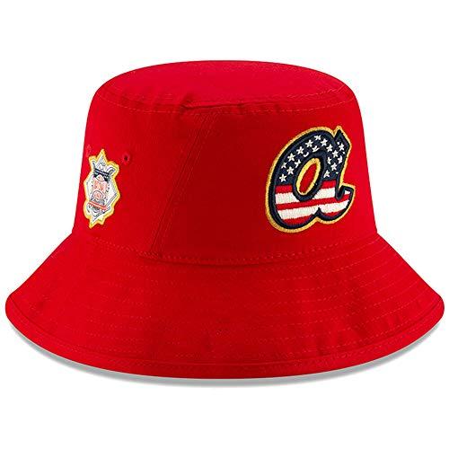 New Era Atlanta Braves 2019 Stars & Stripes 4th of July Bucket Cap Hat One Size Fits Most