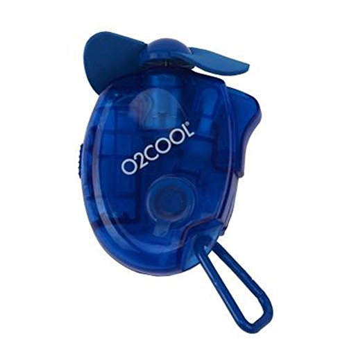 Small Carabiner Keychain Misting Fan, Blue
