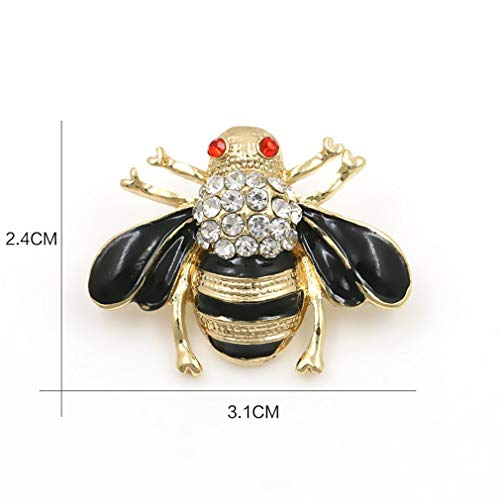 DARLING HER Enamel Bee Brooches Unisex Insect Brooch Pin Women and Men Jewelry Cute Small Badges Fashion Jewelry 7995-1