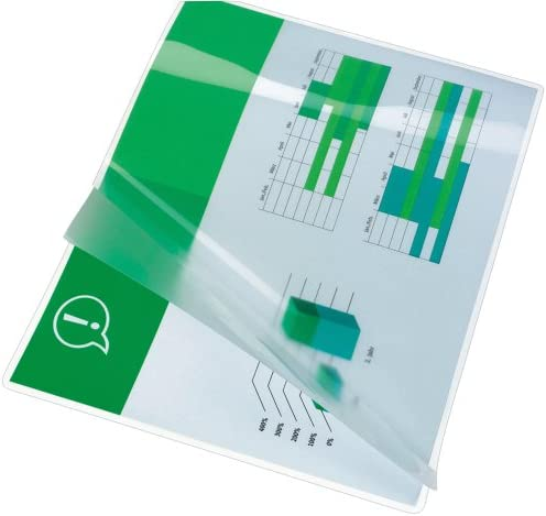 GBC ER04075 - Paquete de 100 láminas de plástico A4, transparente: Amazon.es: Oficina y papelería