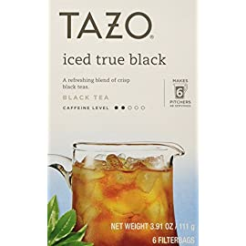 Tazo Iced True Black Filtered Tea - 6 Bags Per Box (Pack of 4) 3.91 oz 95 Iced True Black Tea is a refreshing blend of crisp black teas Black iced tea is fully oxidized to bring out rich, bright flavors Brew a refreshing pitcher of iced tea