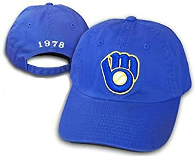 Milwaukee Brewers 1978 Throwback Logo hat cap One Size Fits All Adjustable