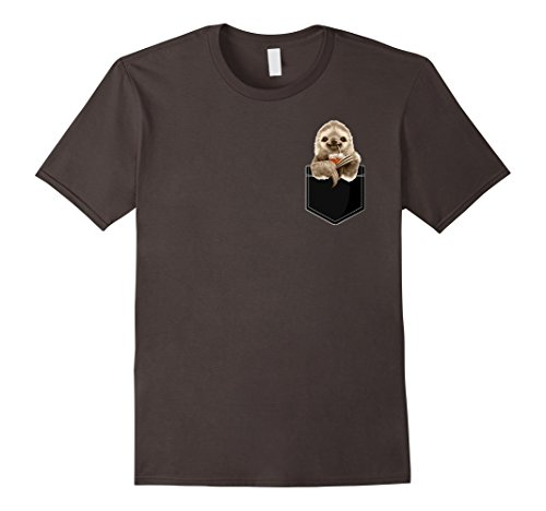 Pocket Sloth T-Shirt Wear A Funny Sloth In Your Pocket -