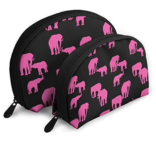 Pink Elephant Multifunction Shell Portable Bags,Storage Bag,Buggy Bag,Travel Cosmetic Bags,Small Makeup Clutch,Pouch Cosmetic,Toiletries Organizer Bag